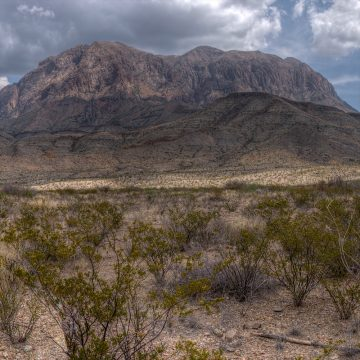 Desert View - Chisos Mountains, Big Bend National Park (Video)